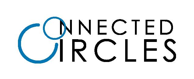 connected circles logo black