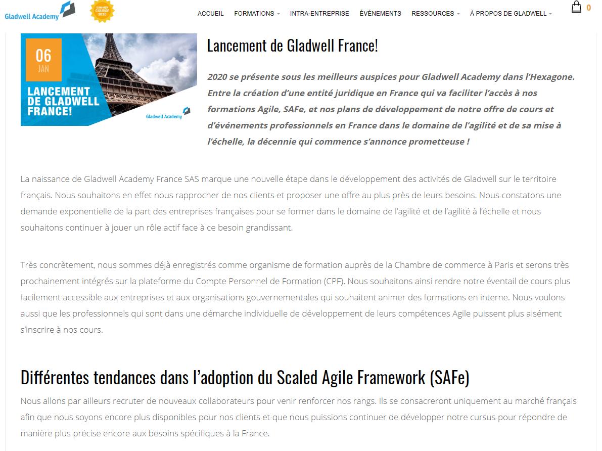 Article de blog en français